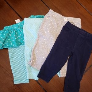 Lot of 4 Pairs of 6 MONTH Baby Girl Pants